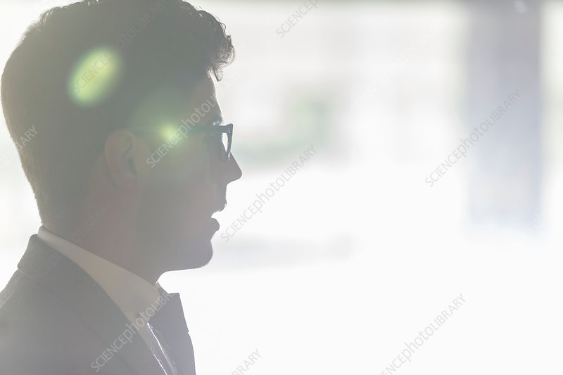 Silhouette profile businessman
