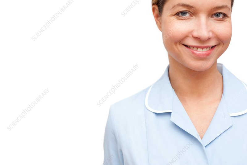 Nurse against white background