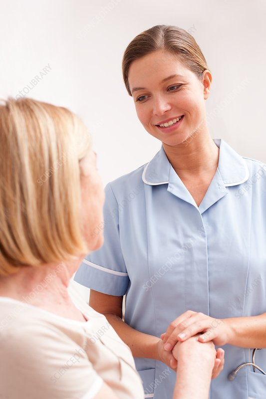 Nurse with senior patient