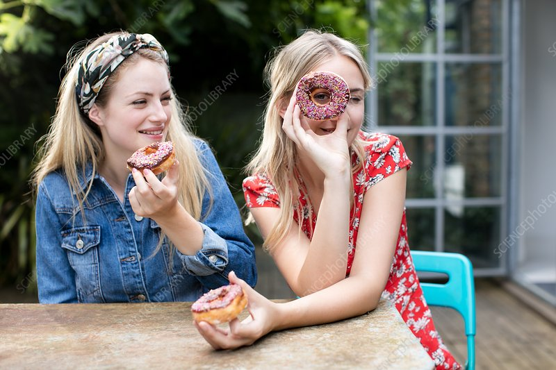 Women with doughnuts