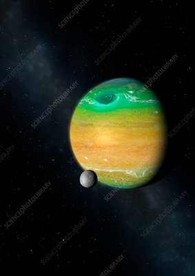 Exoplanet around 092LA, illustration