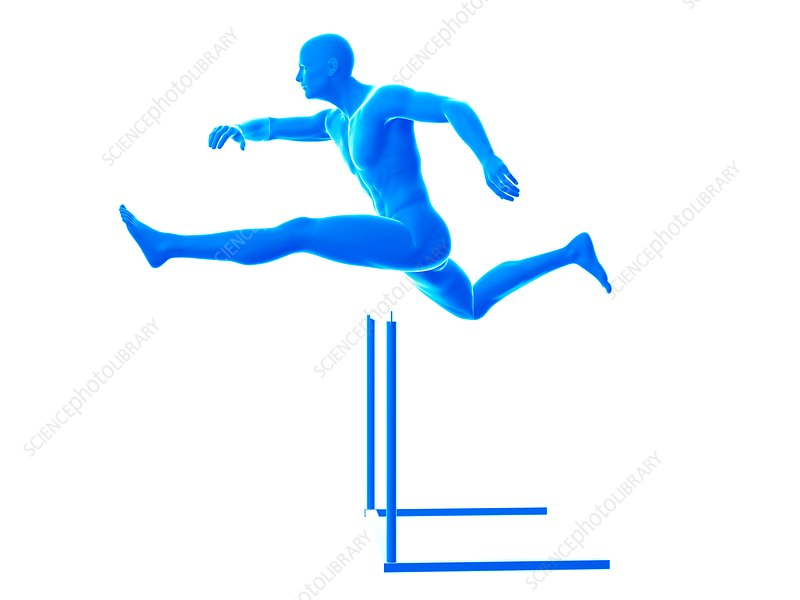 Person hurdling, illustration