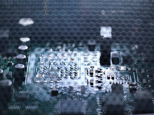 Low key detail of computer circuit board
