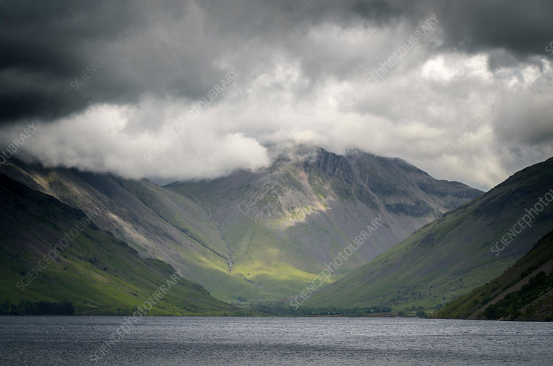 Storm clouds over Goat Crag, The Lake District , UK
