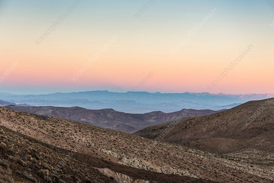 Landscape from Dante's View at sunset, Death Valley, USA