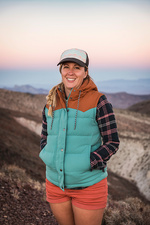 Portrait of mid adult woman in Death Valley, USA