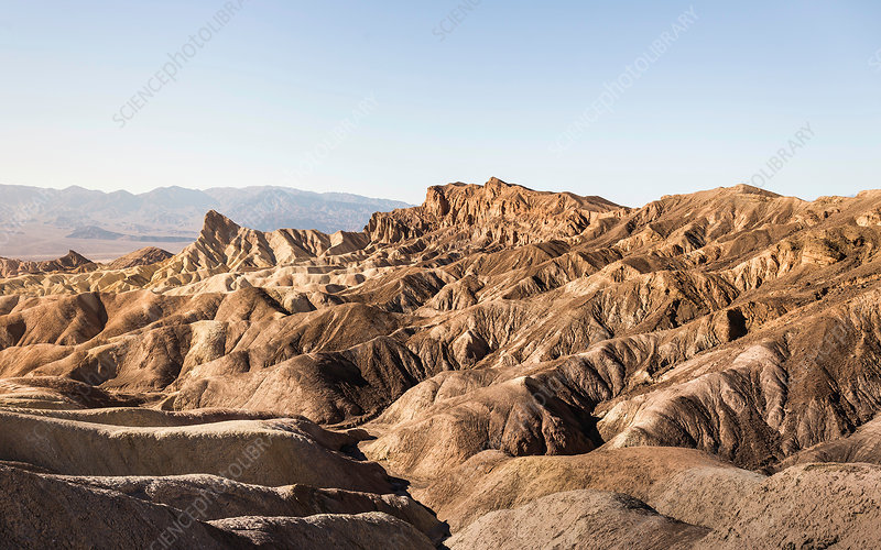 Zabriskie Point rock formation in Death Valley, USA