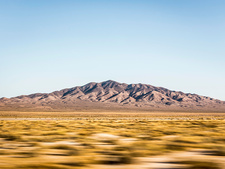 Blurred motion landscape in Death Valley, USA
