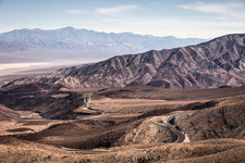 Landscape with winding road in Death Valley, USA