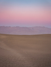 Sunset over Mesquite Flat Sand Dunes in Death Valley, USA