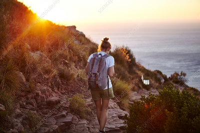Young woman hiking, Cape Town, South Africa