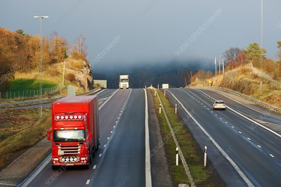 Trucks on highway
