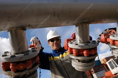 Oil and gas refinery worker