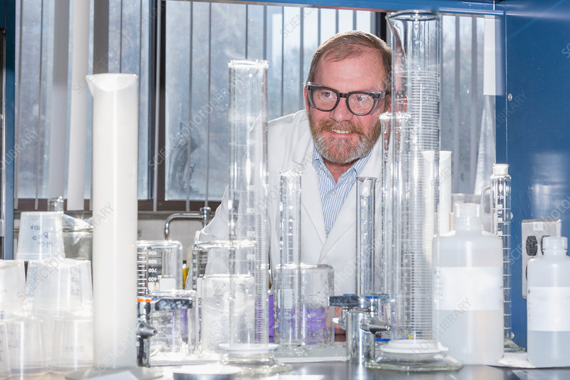 Chemist in water treatment lab - Stock Image F021/0118 - Science ...