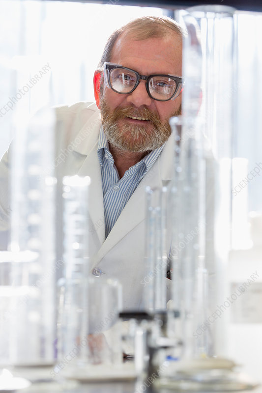 Chemist in water treatment lab