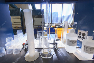 Lab glassware for water testing