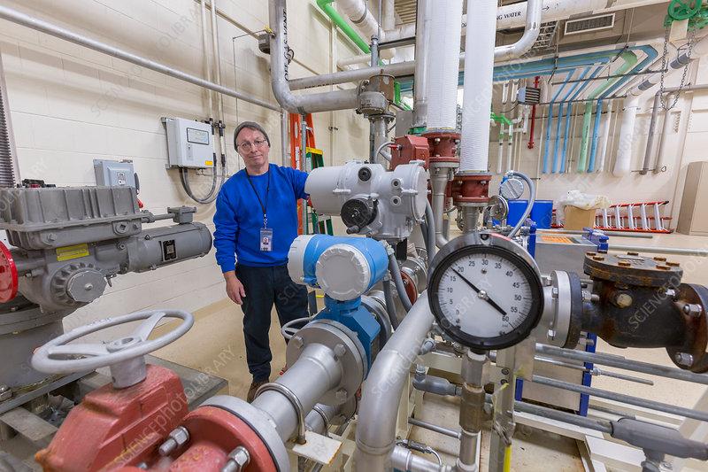 Water treatment plant chemical treatment equipment