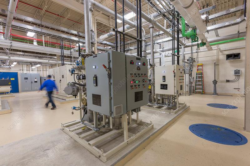 Water treatment plant control panels