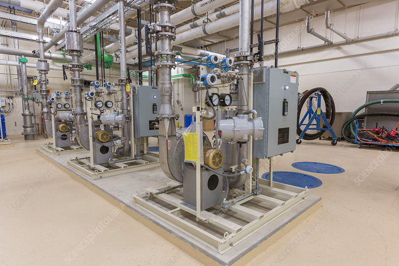 Water treatment plant chemical treatment equipment