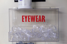 Protective eyewear in case