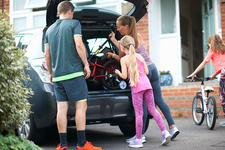 Family packing car for holiday