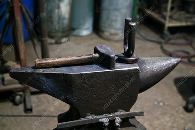 Anvil in a forge