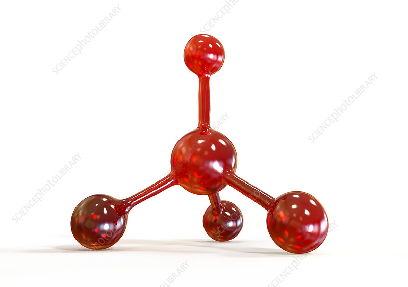 Abstract molecule model, illustration