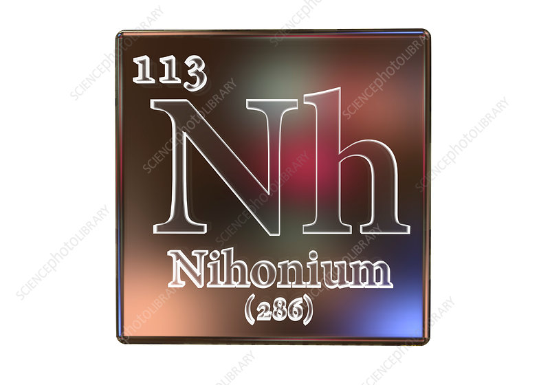 Niobium chemical element, illustration