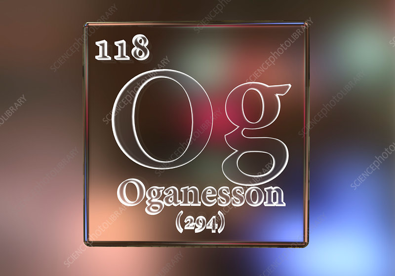 Oganesson chemical element, illustration