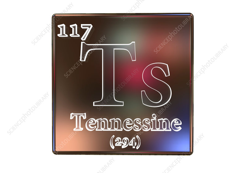 Tennessin chemical element, illustration