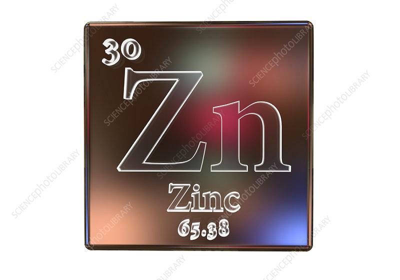 Zinc Chemical Element Illustration Stock Image F0211698