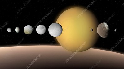 Moons of Saturn, illustration