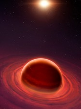 Birth of a gas giant, illustration