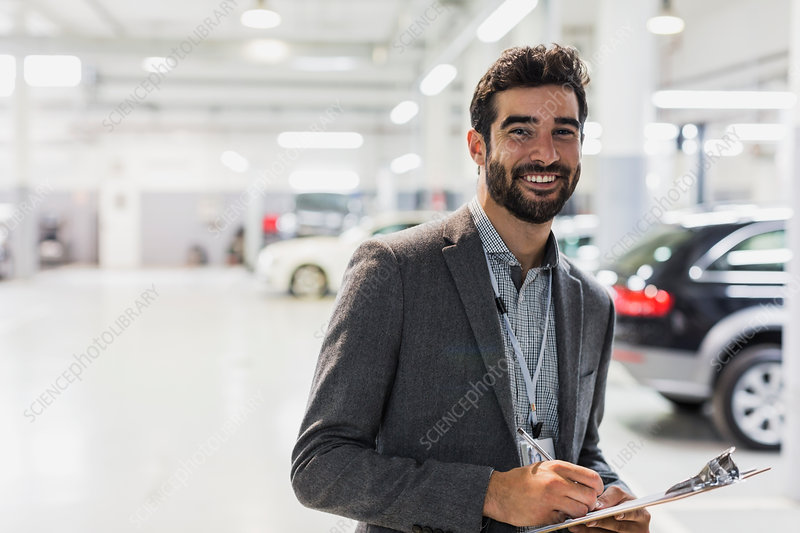 Portrait car salesman