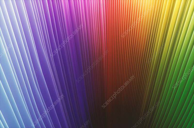 Abstract multicoloured lines, illustration