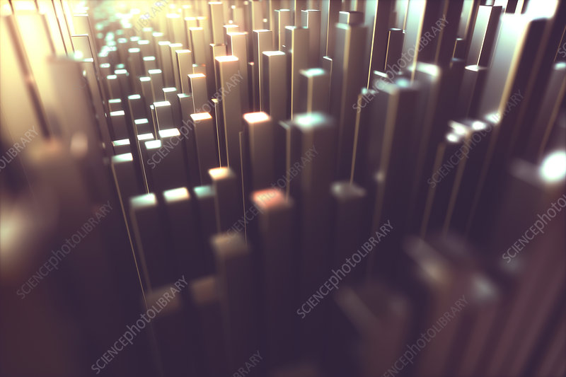 Abstract square columns, illustration