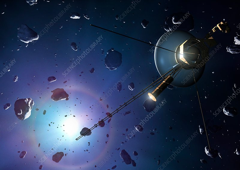 Voyager probe in the Oort cloud, illustration