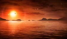 Water in Trappist-1 system, illustration