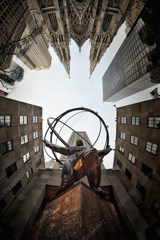 Statue, Rockefeller Centre, New York, USA
