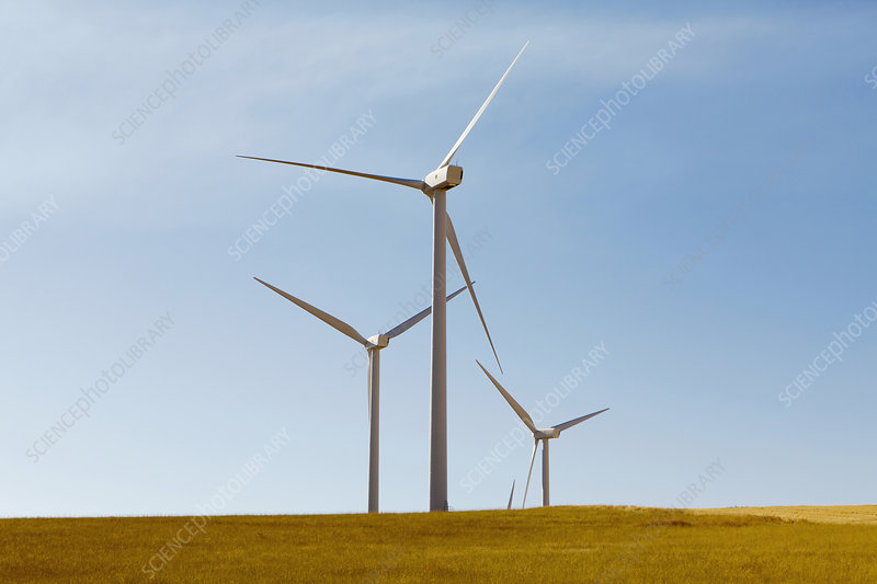 Wind turbines, Washington, USA