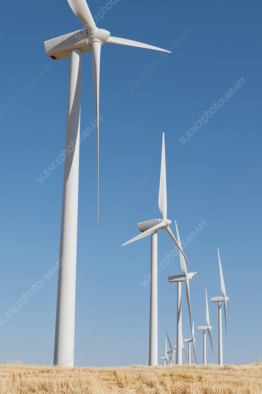Wind turbines, Washington, USA