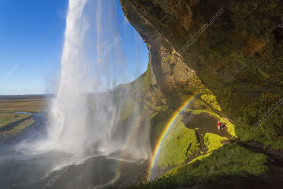 Waterfall and double rainbow