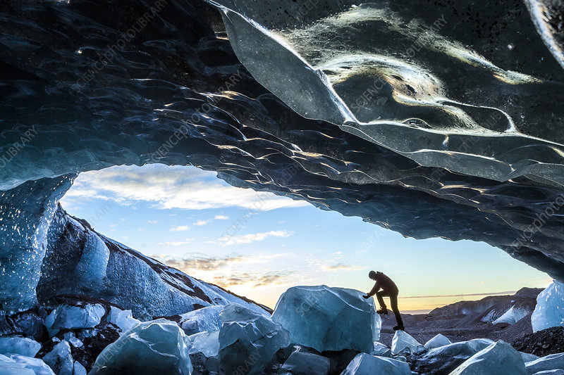 Entrance of glacial ice cave
