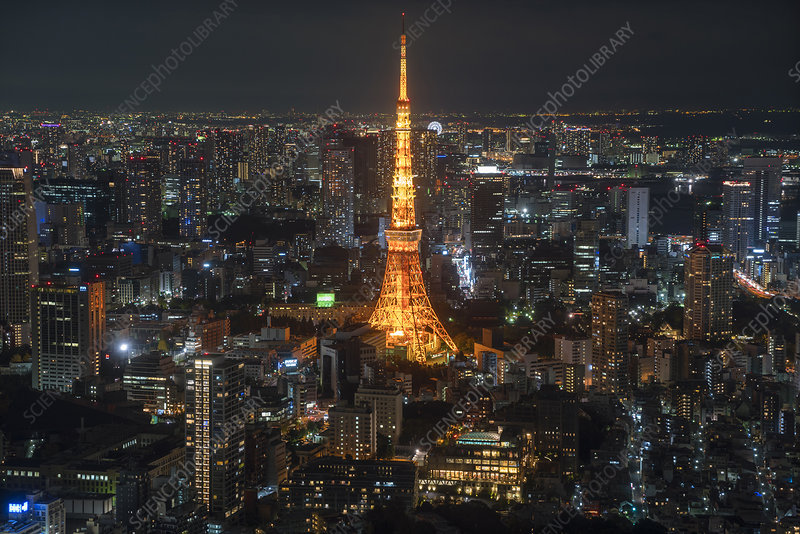 Cityscape of Tokyo, Japan, at night