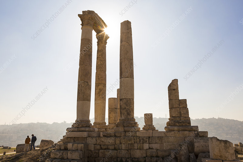 Ancient ruin of temple, Amman, Jordan