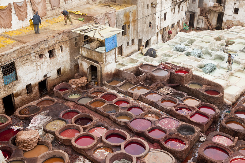 Traditional North African tannery