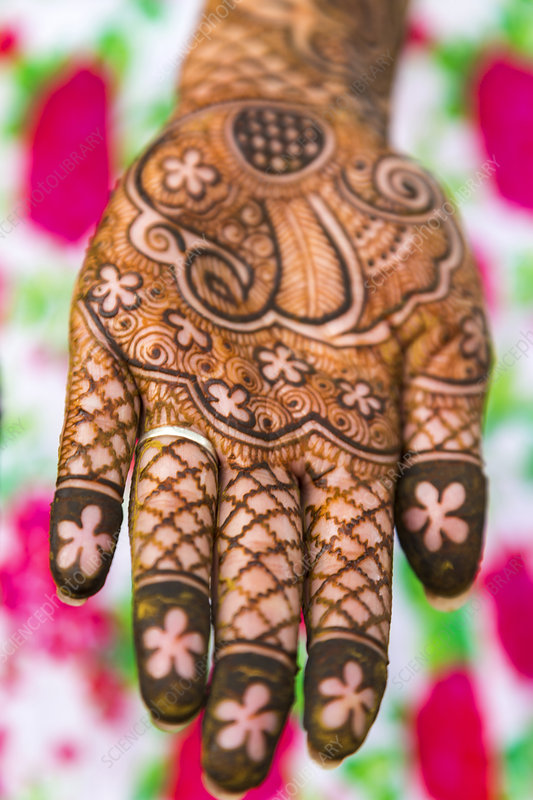 Hennaed female hand