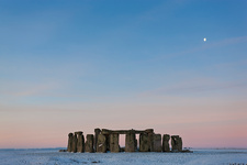 Stonehenge, Wiltshire, England at sunrise in winter