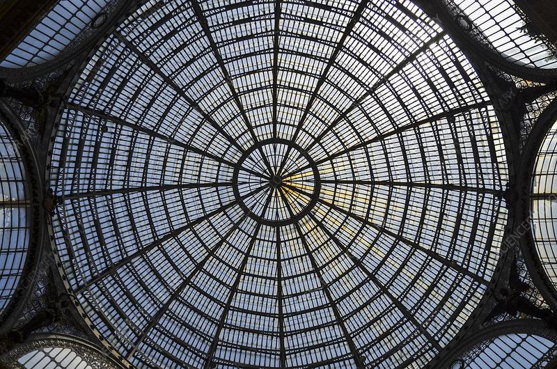 Glass dome, Galleria Umberto I shopping centre, Italy