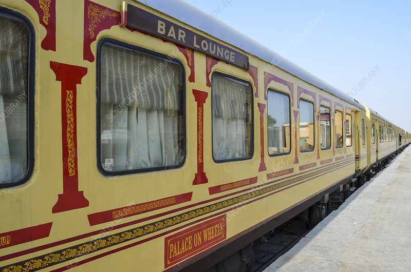 The Palace on Wheels, Bar Carriage, Rajasthan, India